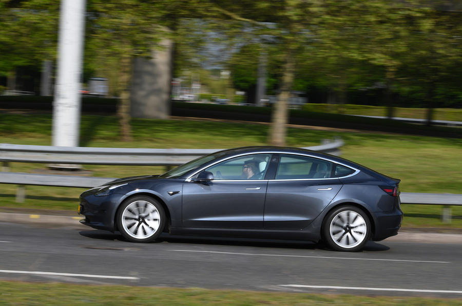 Tesla Model 3 Performance 2019 UK first drive review - on the road left