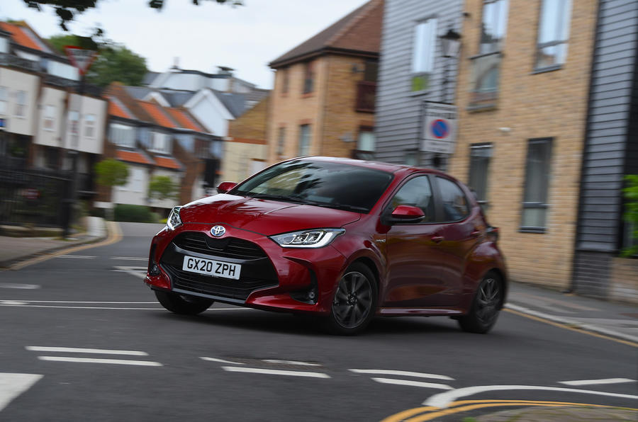 Autocar writers car of 2020: Toyota Yaris - cornering front