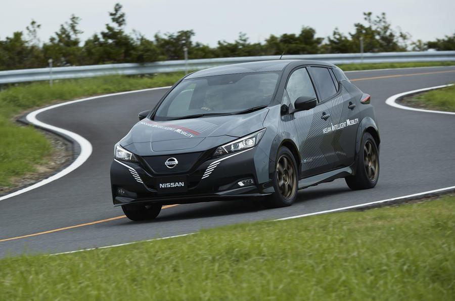 2020 Nissan Leaf e-4orce demo vehicle