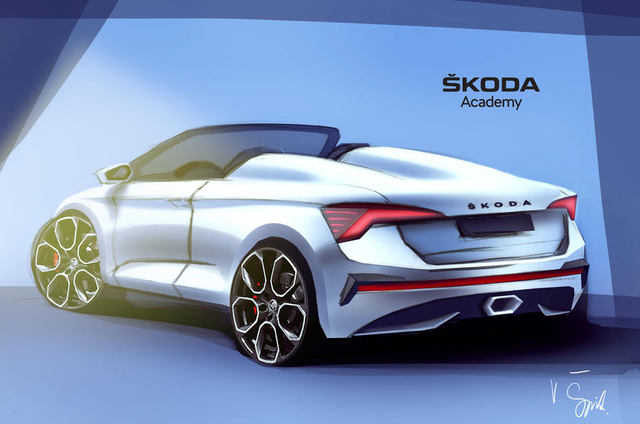 2020 Skoda Scala Spider render