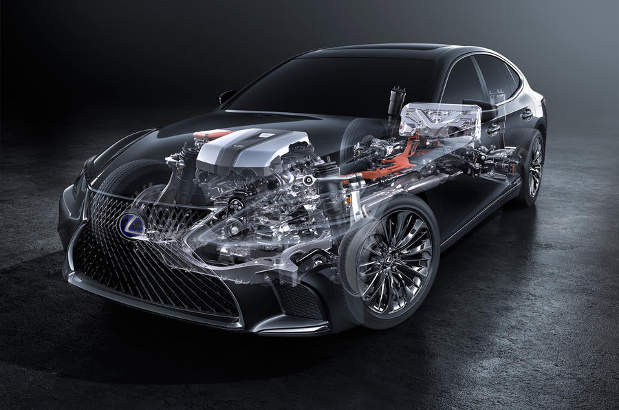 Lexus LS 500h flagship hybrid powertrain confirmed ahead of Geneva