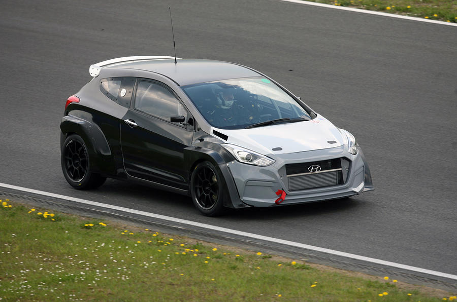 Hyundai i30N test car at Nürburgring