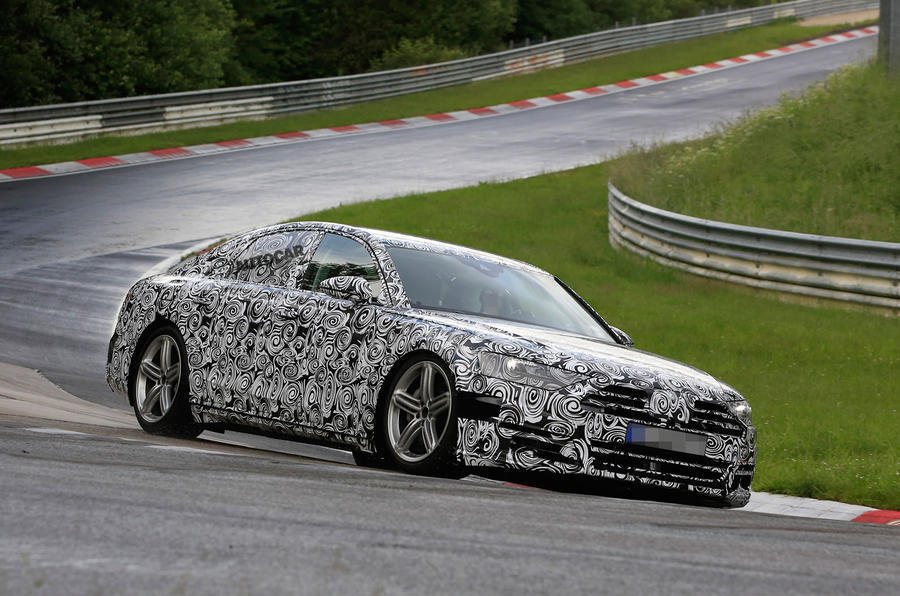 Audi A8 testing at the Nurburgring