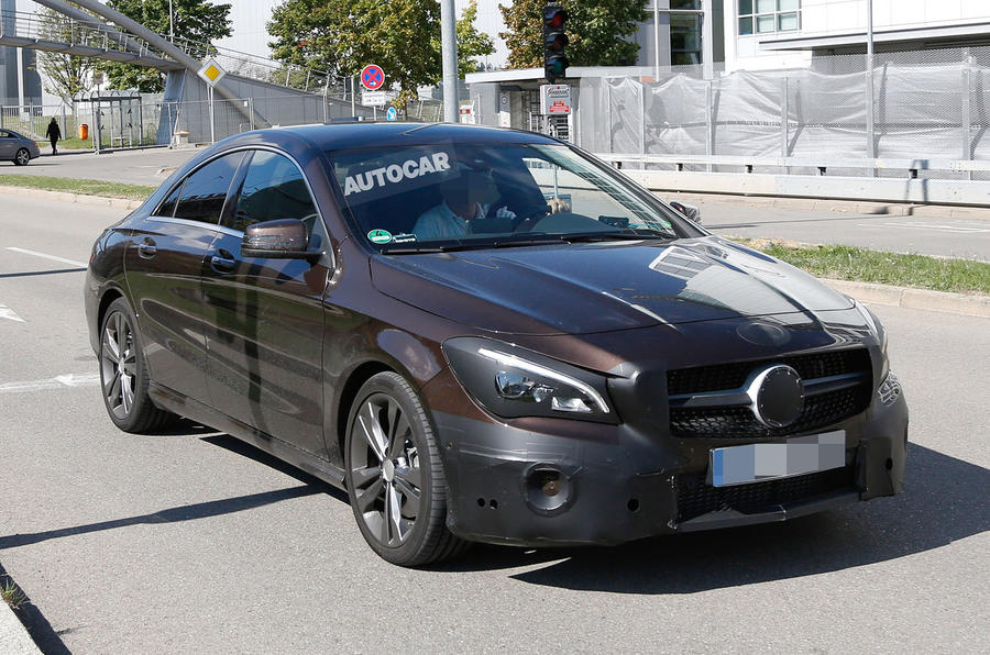 2016 mercedes benz cla facelift spotted testing first for Mercedes benz cla for sale uk
