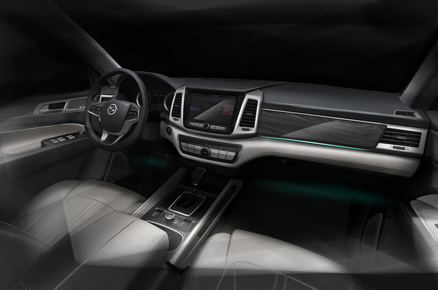 New Ssangyong Rexton sketch of interior