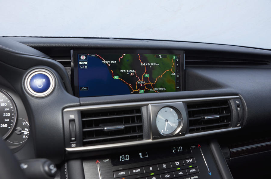 Lexus IS Static Infotainment
