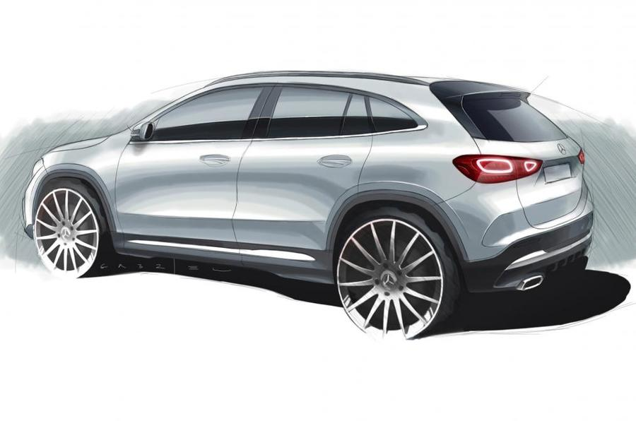 2020 Mercedes-Benz GLA sketch