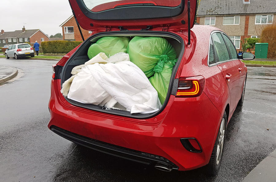 Kia Ceed Lawrence Allan filled boot