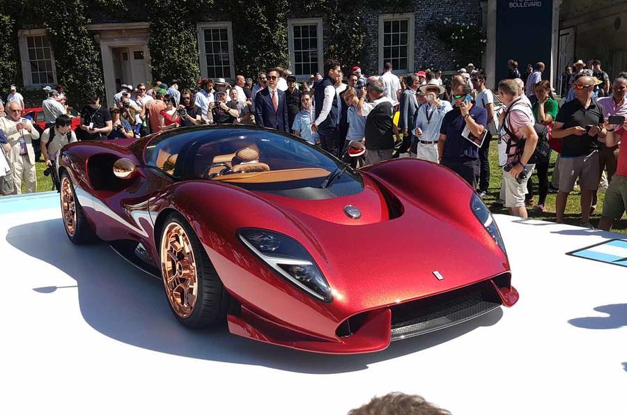 De Tomaso unveils P72 supercar at Festival of Speed