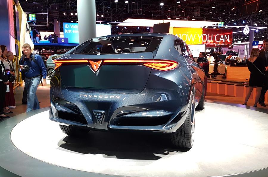 Cupra Tavascan concept at Frankfurt motor show 2019 - rear