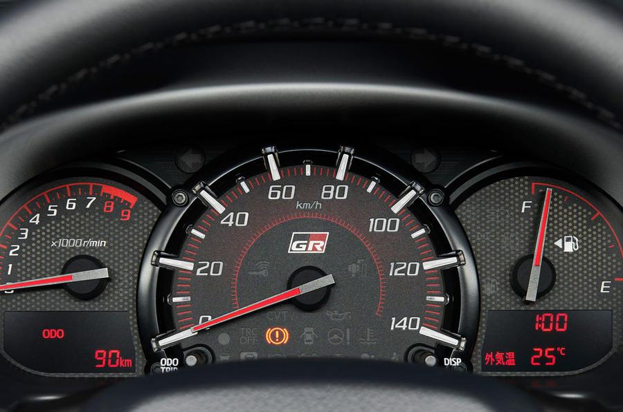 Toyota Copen GR Sport - clocks