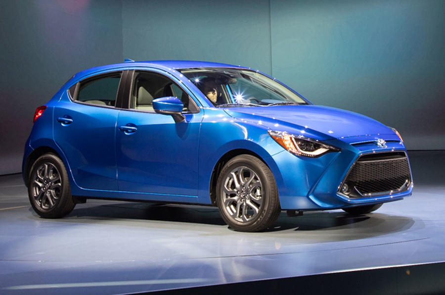 Toyota Unveils New Mazda 2 Based Yaris Hatchback For Us Autocar