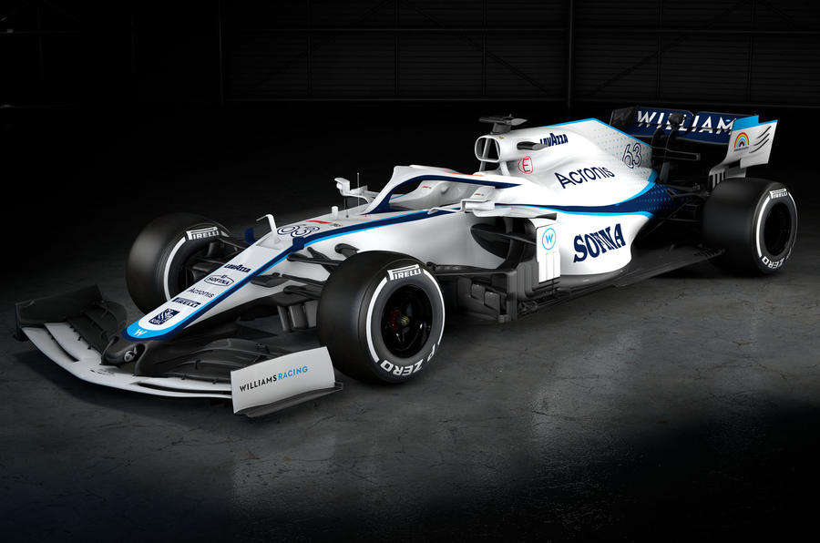 2020 Williams F1 livery official images - front
