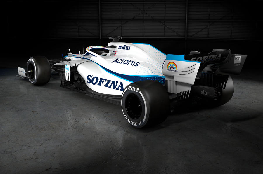 2020 Williams F1 livery official images - rear quarter