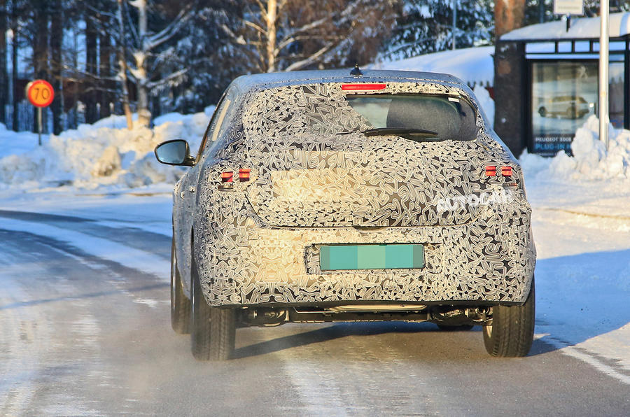 2021 Dacia Sandero winter testing - back end