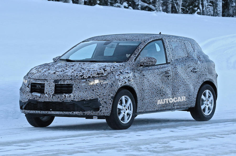 2021 Dacia Sandero winter testing - lead