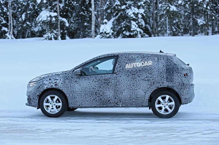 2021 Dacia Sandero winter testing - side