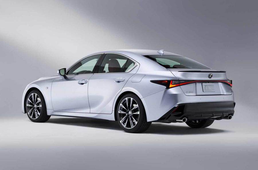 2021 Lexus IS rear side