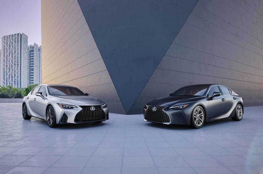 2021 Lexus IS front two models