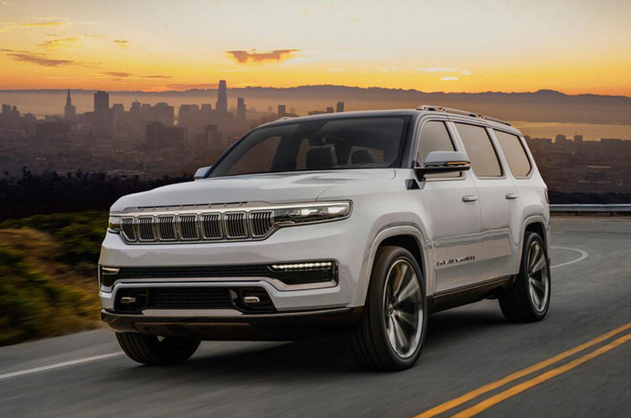 2020 Jeep Grand Wagoneer concept - front