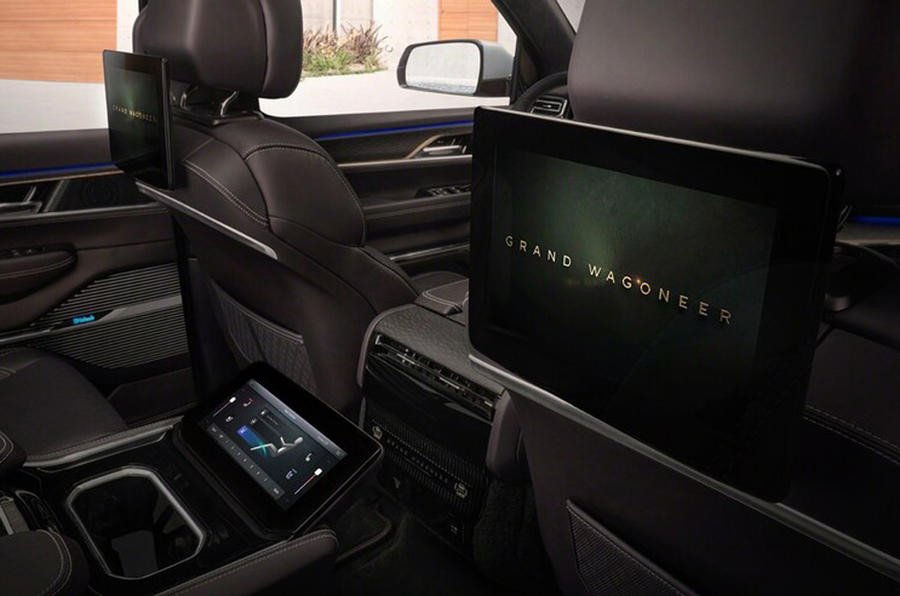 2020 Jeep Grand Wagoneer concept - rear infotainment