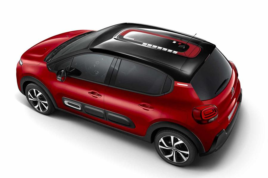 Citroen C3 facelift from above