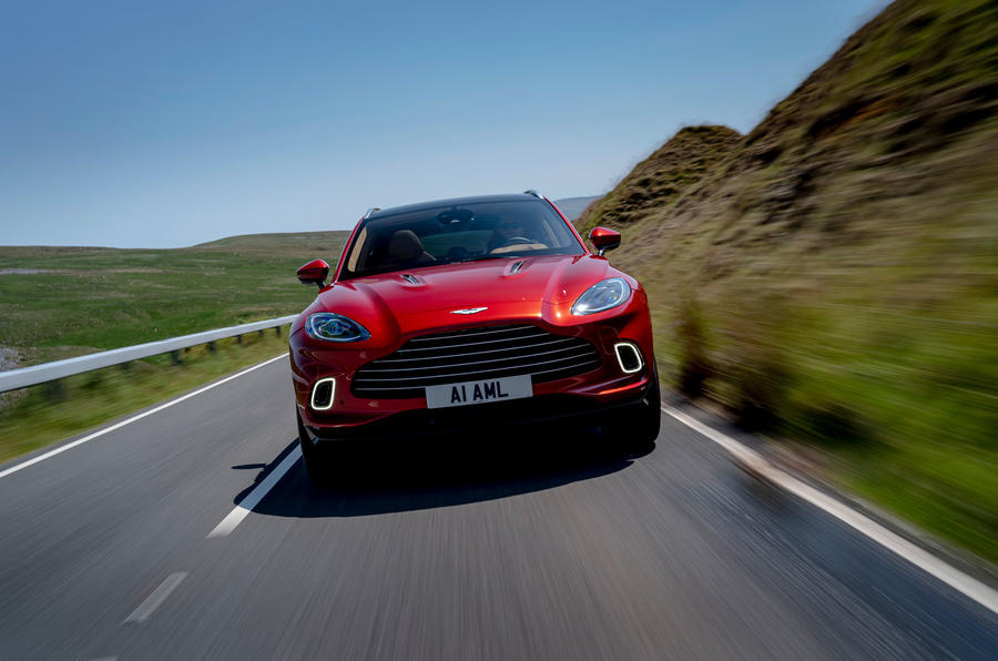 Aston Martin DBX 2020 UK first drive review - on the road nose