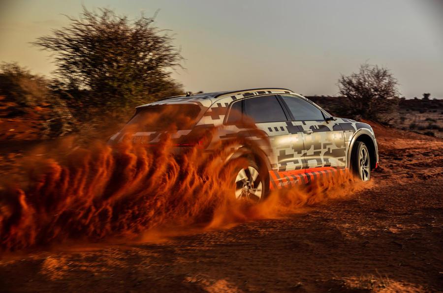 Audi e-Tron 2019 prototype first drive review - dustcloud