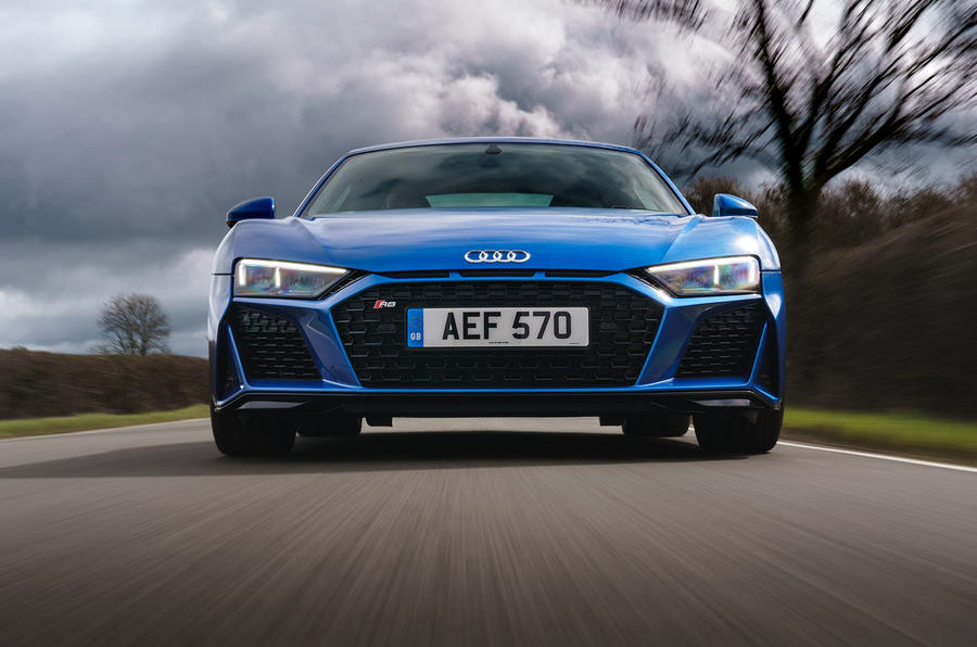Audi R8 RWD 2020 UK first drive review - on the road nose