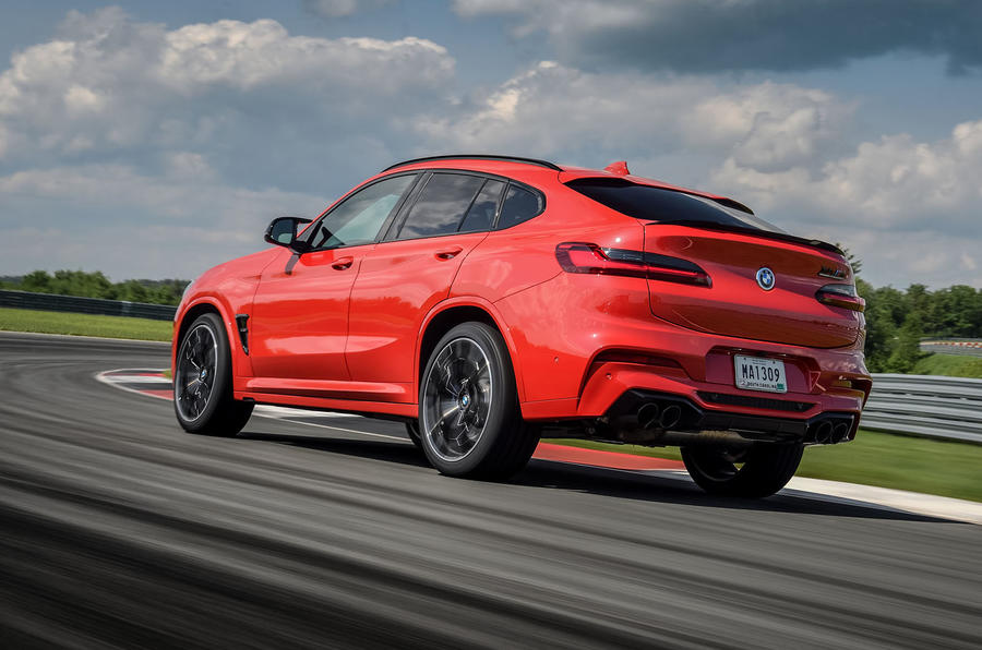 BMW X4 M Competition 2019 first drive review - track rear