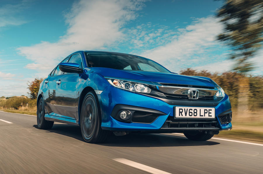 Honda Civic saloon 2018 UK first drive review on the road