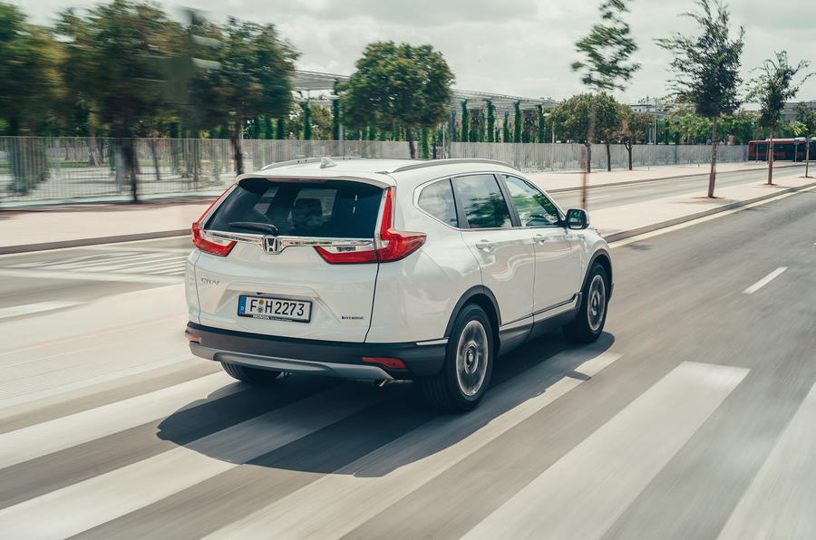 Honda CR-V hybrid 2019 first drive review - on the road rear