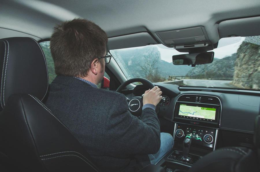 Jaguar XE P300 2019 first drive review - Matt Saunders driving