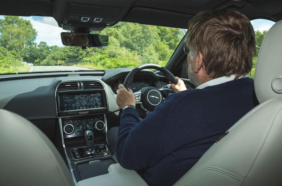Jaguar XE P300 2019 UK first drive review - Steve Cropley driving
