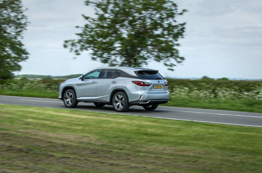 Lexus RX 450hL 2018 review on the road rear