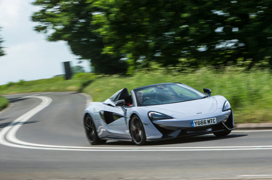 McLaren 570S Spider Track Pack 2018 UK review on the road front