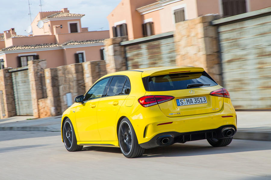 Mercedes-AMG A35 2018 first drive review - on the road rear