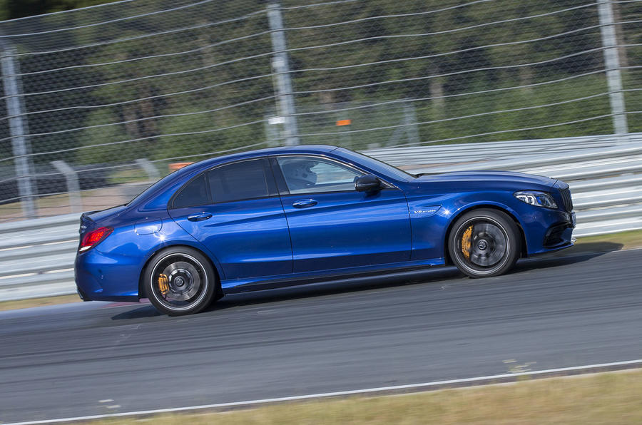 Mercedes-AMG C63 2018 first drive review track driving side
