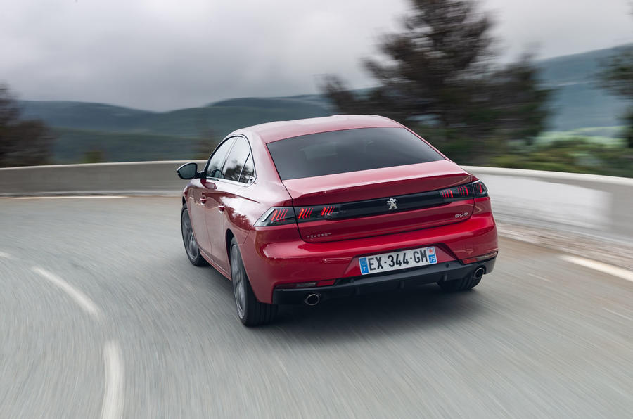 Peugeot 508 2018 review on the road rear
