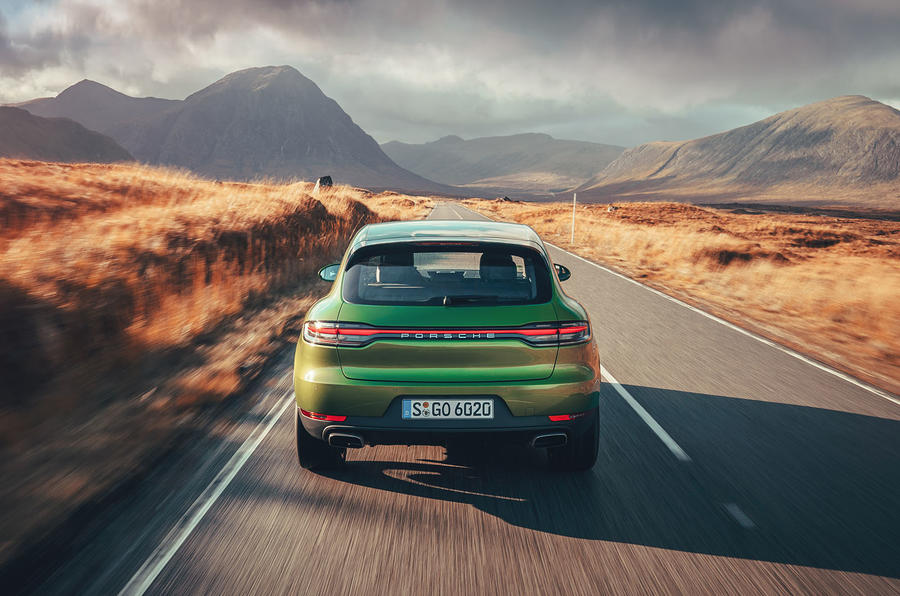 Porsche Macan 2019 first drive review - on the road rear
