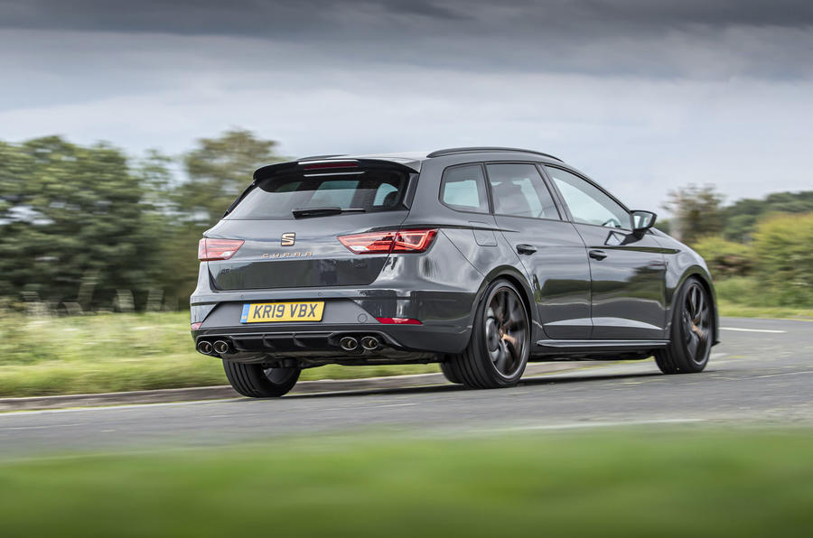 Seat Leon Cupra R ST Abt 2019 UK first drive review - on the road rear