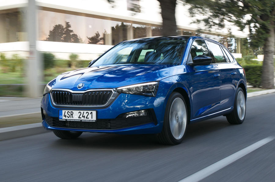Skoda Scala 2019 first drive review - on the road front left