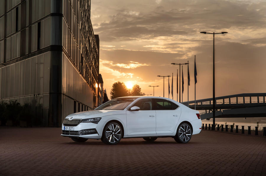 Skoda Superb iV 2020 first drive review - static front
