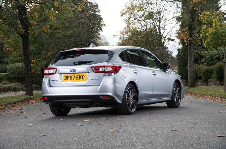 Subaru Impreza 2018 UK review static rear