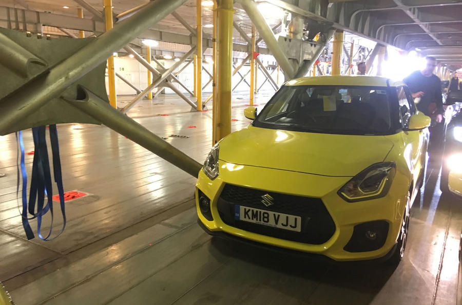 Suzuki Swift Sport 2018 long-term review inside ferry front