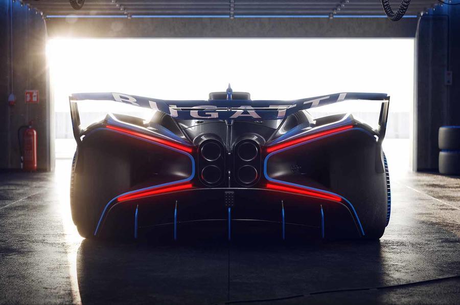 Bugatti Bolide rear close garage