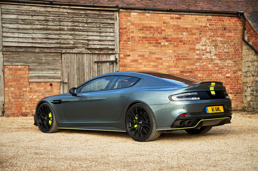 Aston Martin Rapide AMR 2019 UK first drive review - static rear