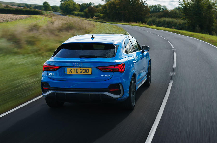Audi Q3 Sportback 2019 UK first drive review - on the road rear