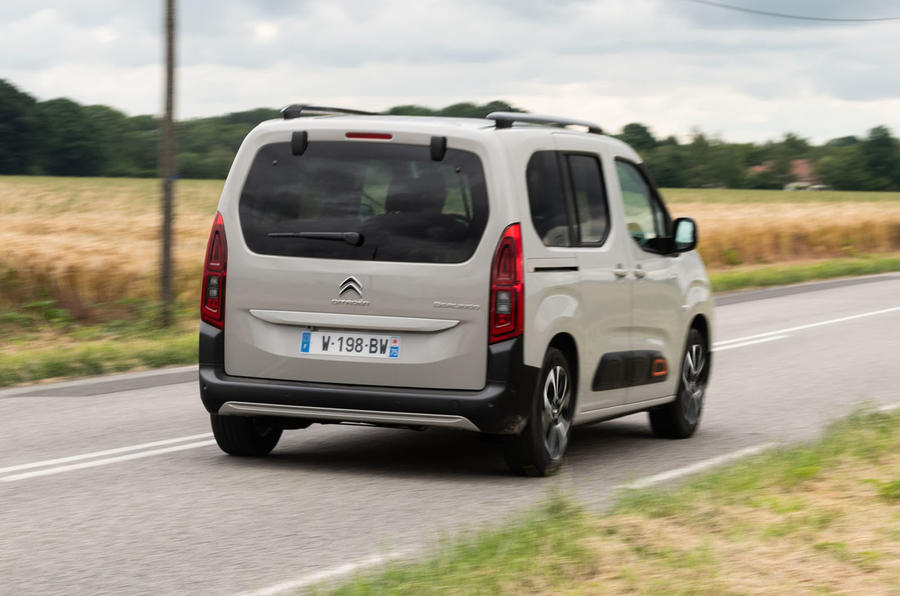 Citroen Berlingo 2018 first drive review on the road rear
