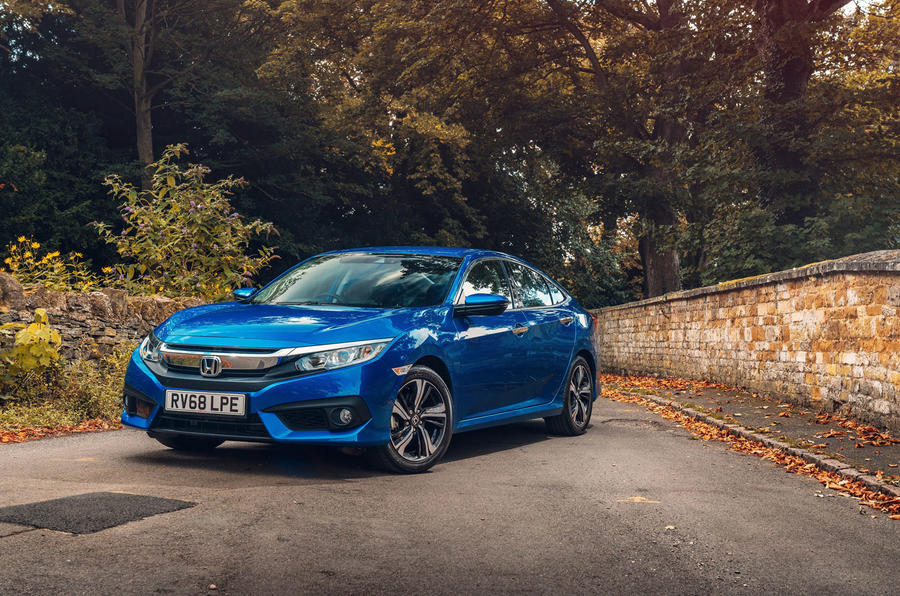 Honda Civic saloon 2018 UK first drive review static front